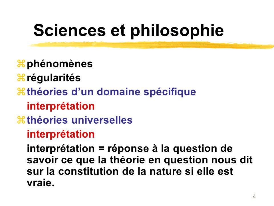Sciences et philosophie