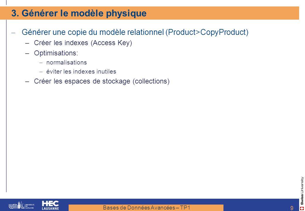 3. Générer le modèle physique