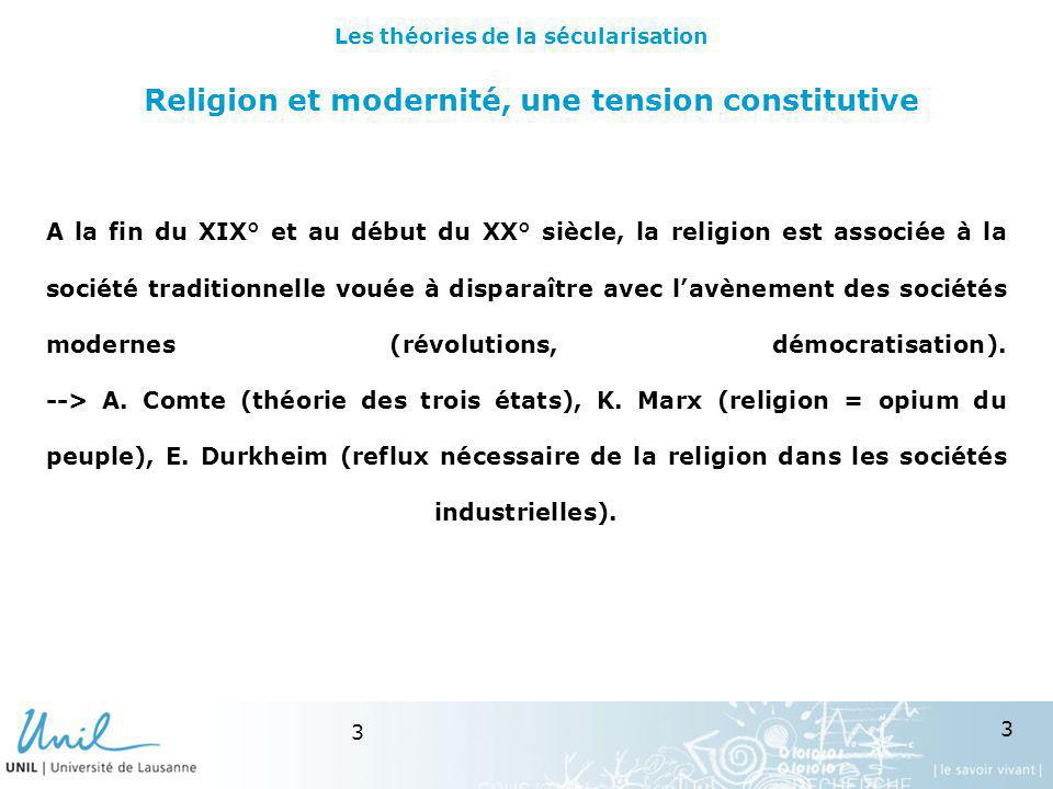Religion et modernité, une tension constitutive