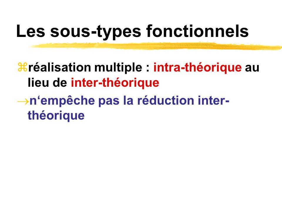 Les sous-types fonctionnels