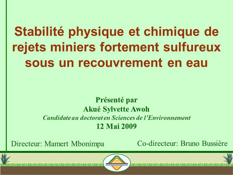 Candidate au doctorat en Sciences de l'Environnement