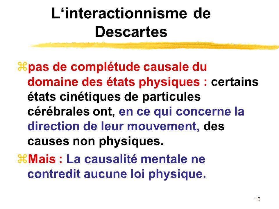 L'interactionnisme de Descartes