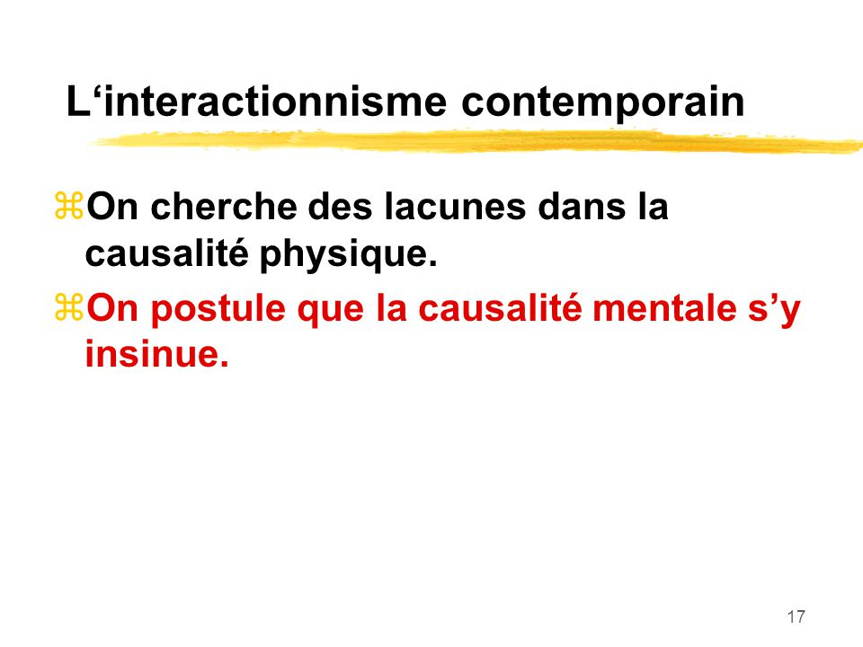 L'interactionnisme contemporain