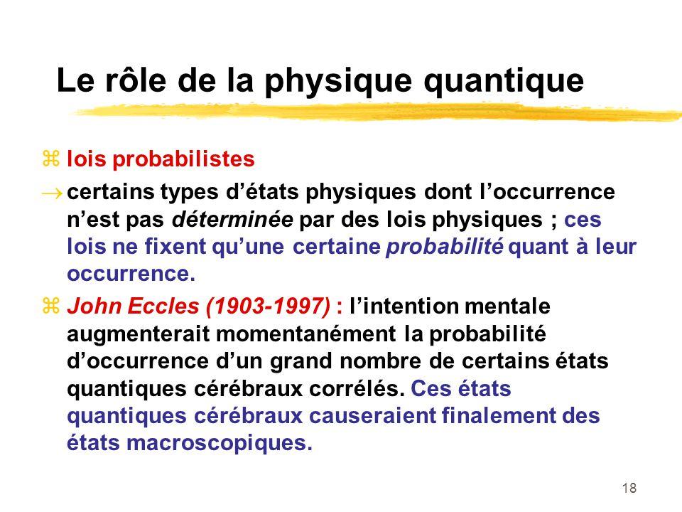 Le rôle de la physique quantique