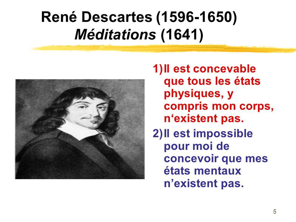 René Descartes (1596-1650) Méditations (1641)