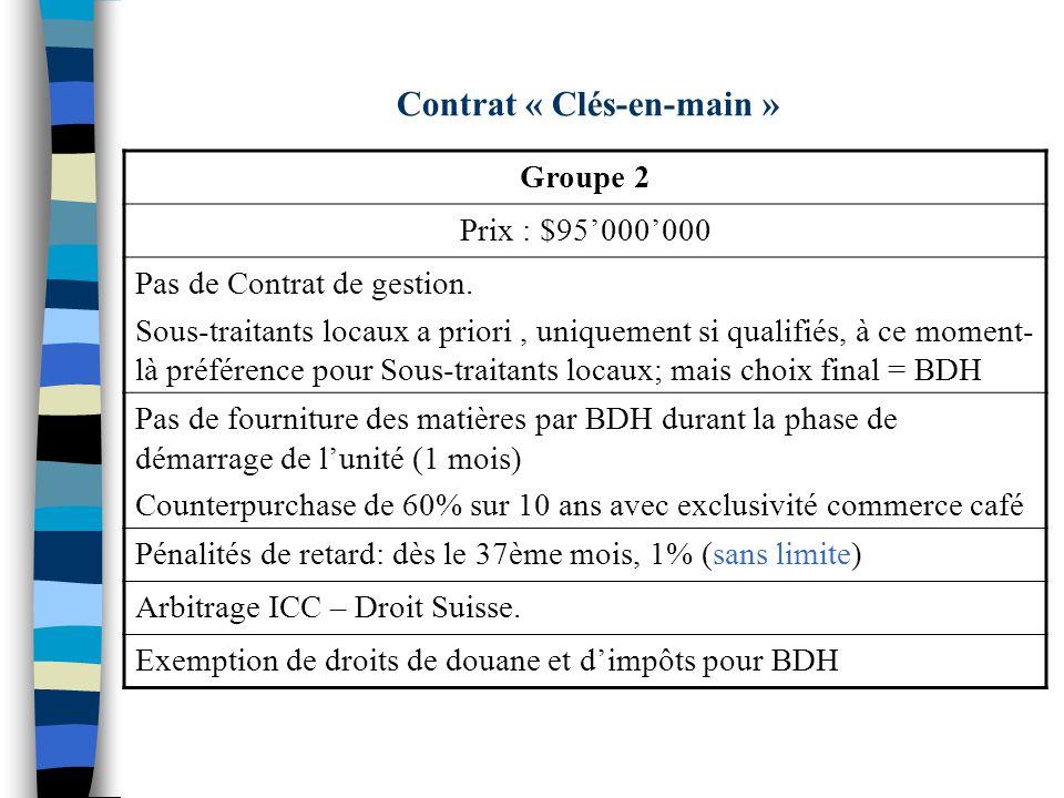 Contrat « Clés-en-main »