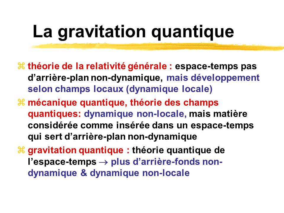La gravitation quantique