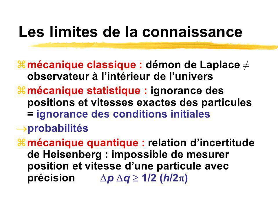 Les limites de la connaissance