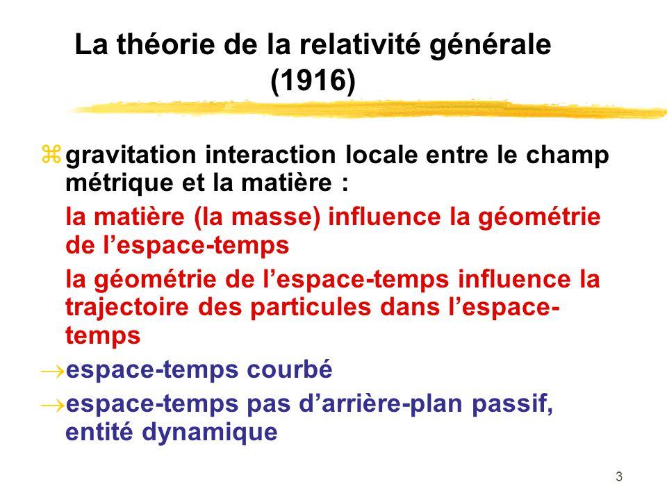 La théorie de la relativité générale (1916)
