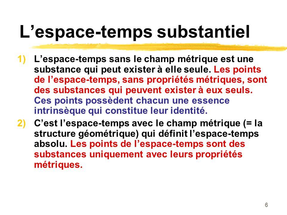 L'espace-temps substantiel