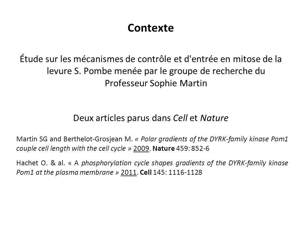 Deux articles parus dans Cell et Nature