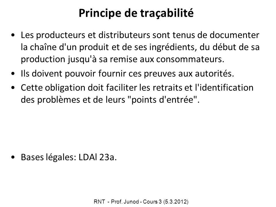 Principe de traçabilité