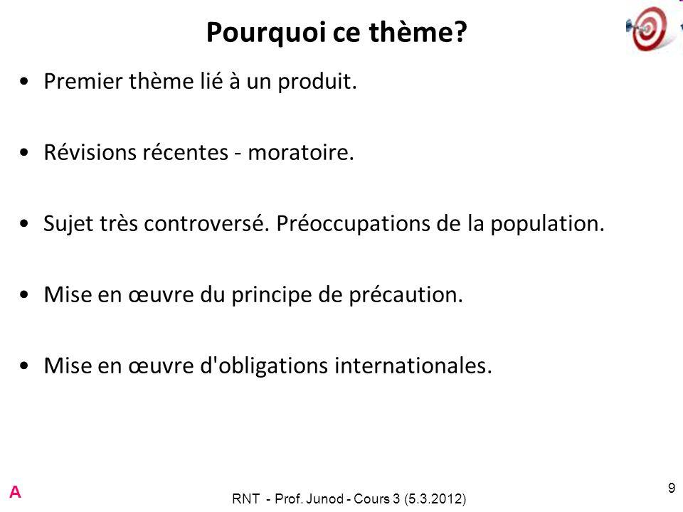 RNT - Prof. Junod - Cours 3 (5.3.2012)