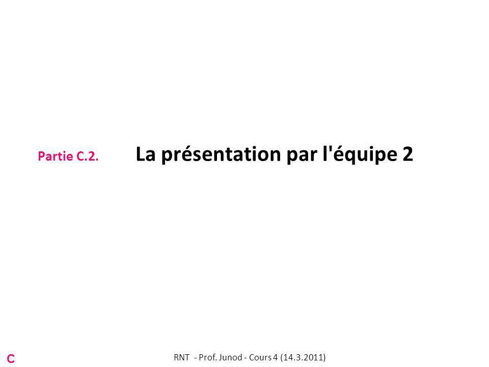 Partie C.2. La présentation par l équipe 2