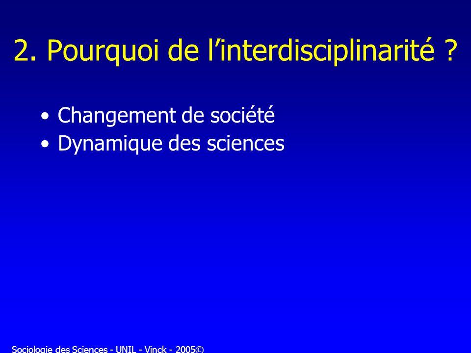 2. Pourquoi de l'interdisciplinarité