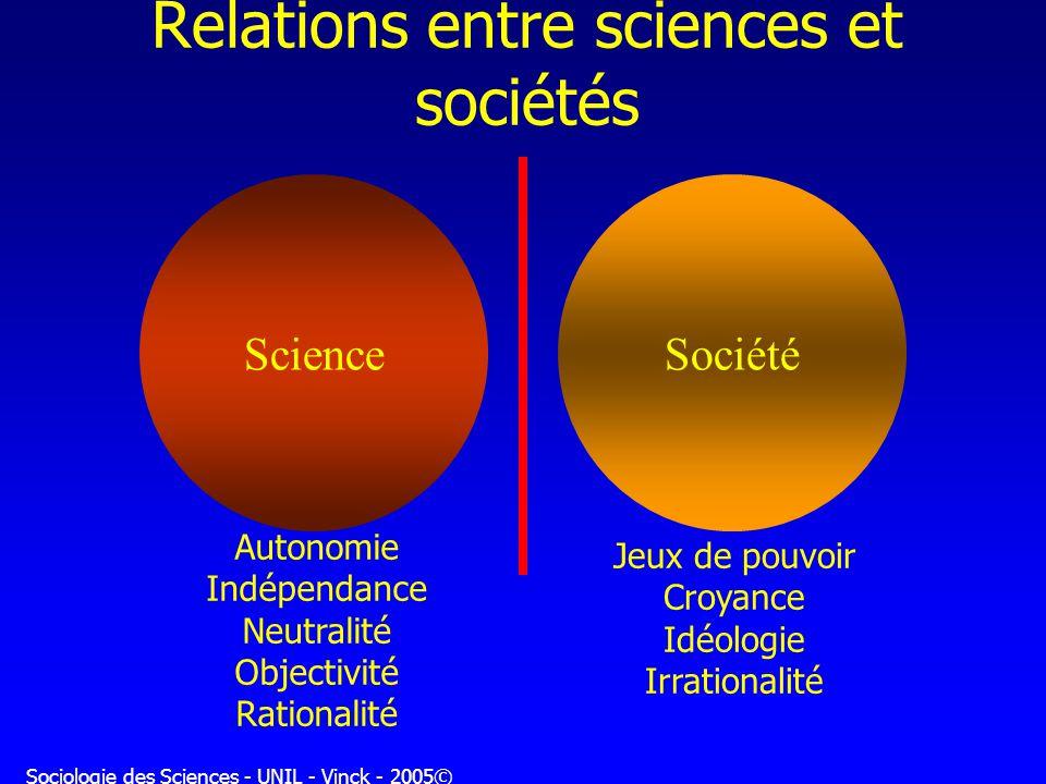 Relations entre sciences et sociétés