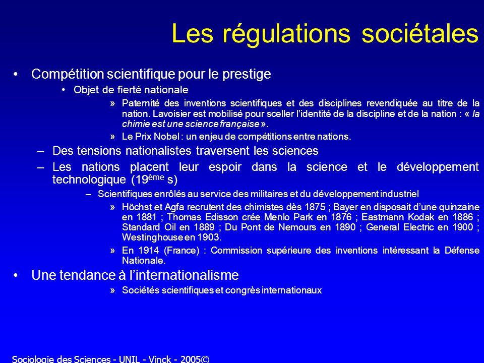 Les régulations sociétales