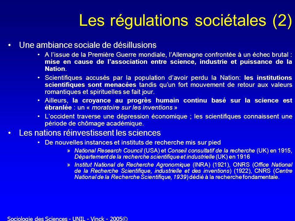Les régulations sociétales (2)