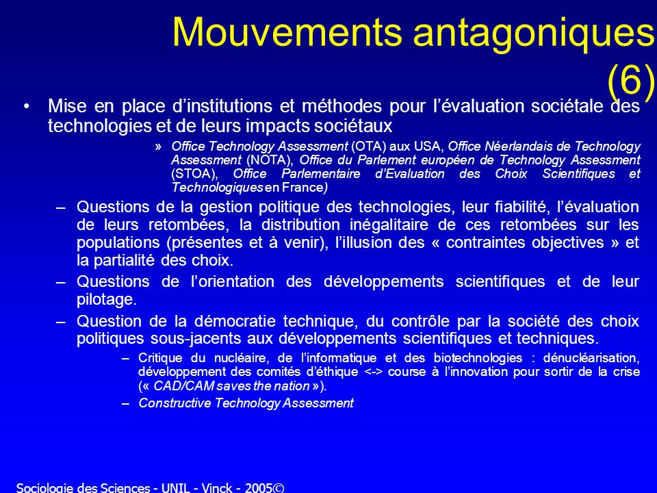 Mouvements antagoniques (6)