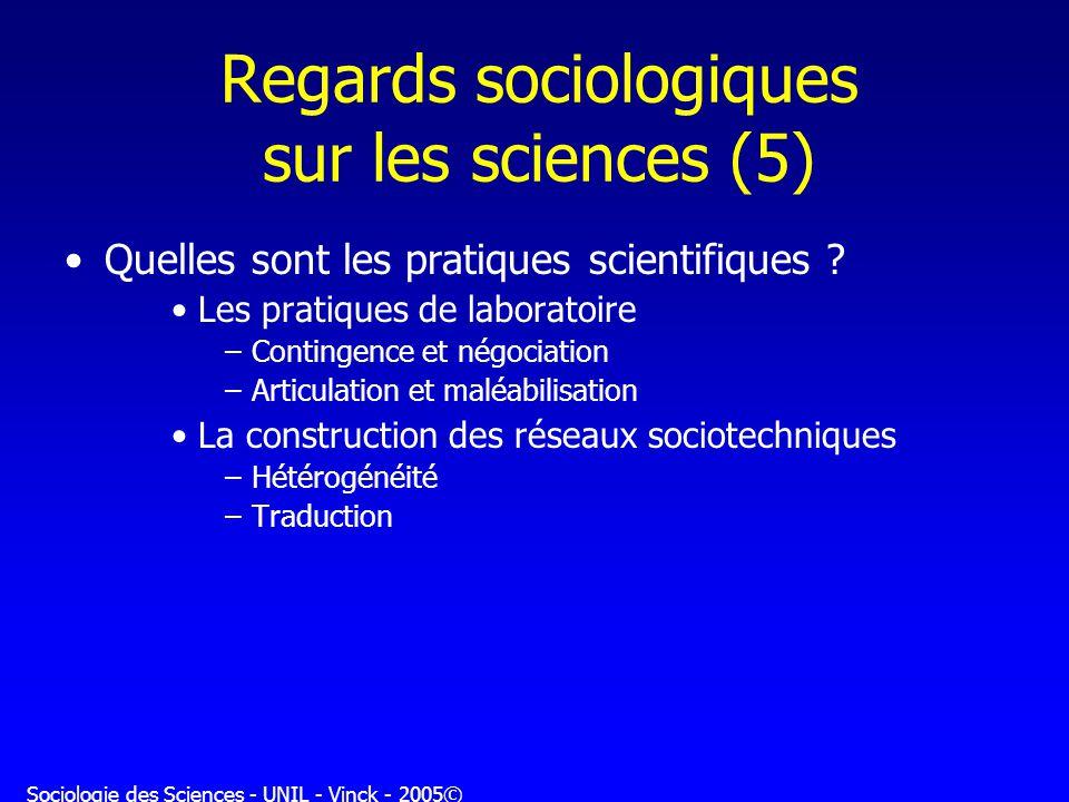 Regards sociologiques sur les sciences (5)