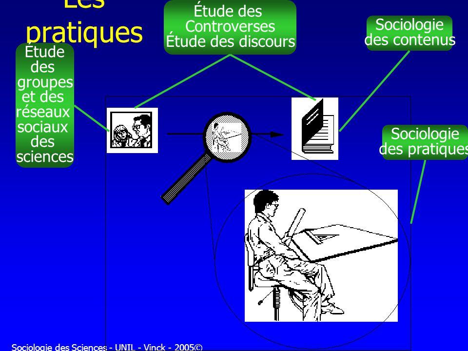 Sociologie des Sciences - UNIL - Vinck - 2005©