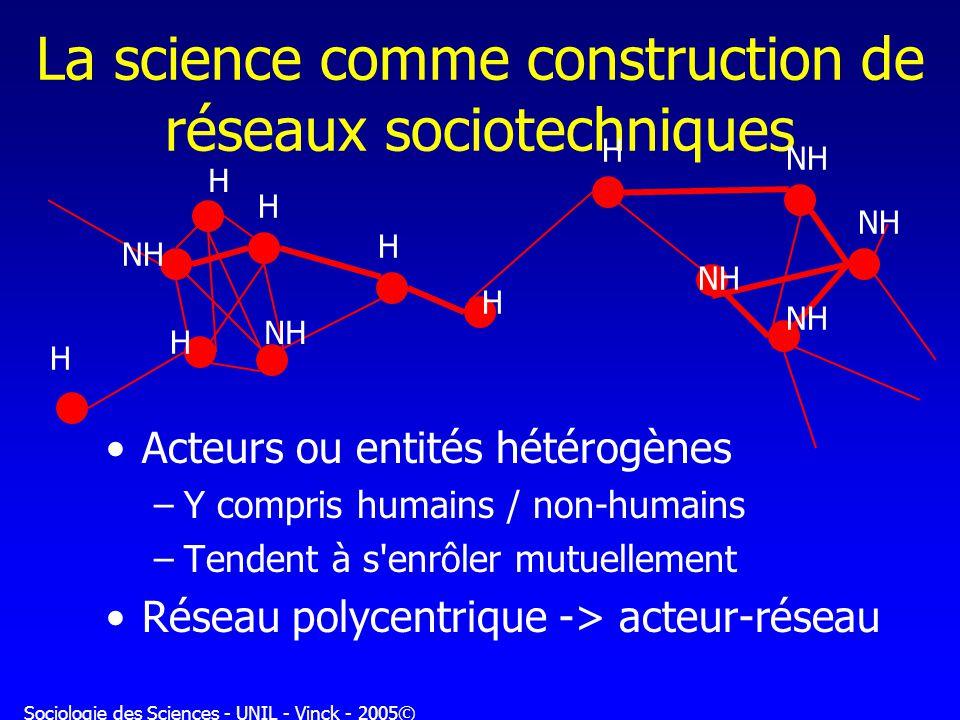 La science comme construction de réseaux sociotechniques