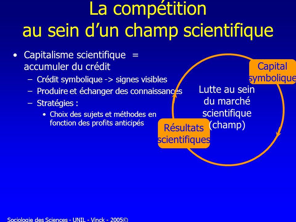 La compétition au sein d'un champ scientifique
