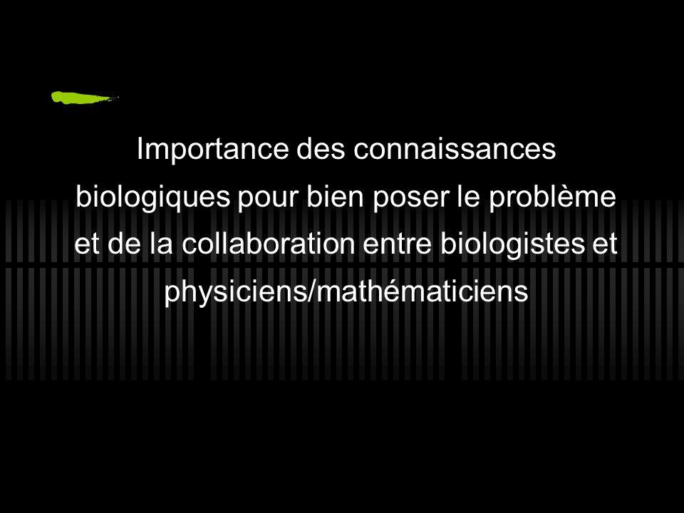 Importance des connaissances biologiques pour bien poser le problème