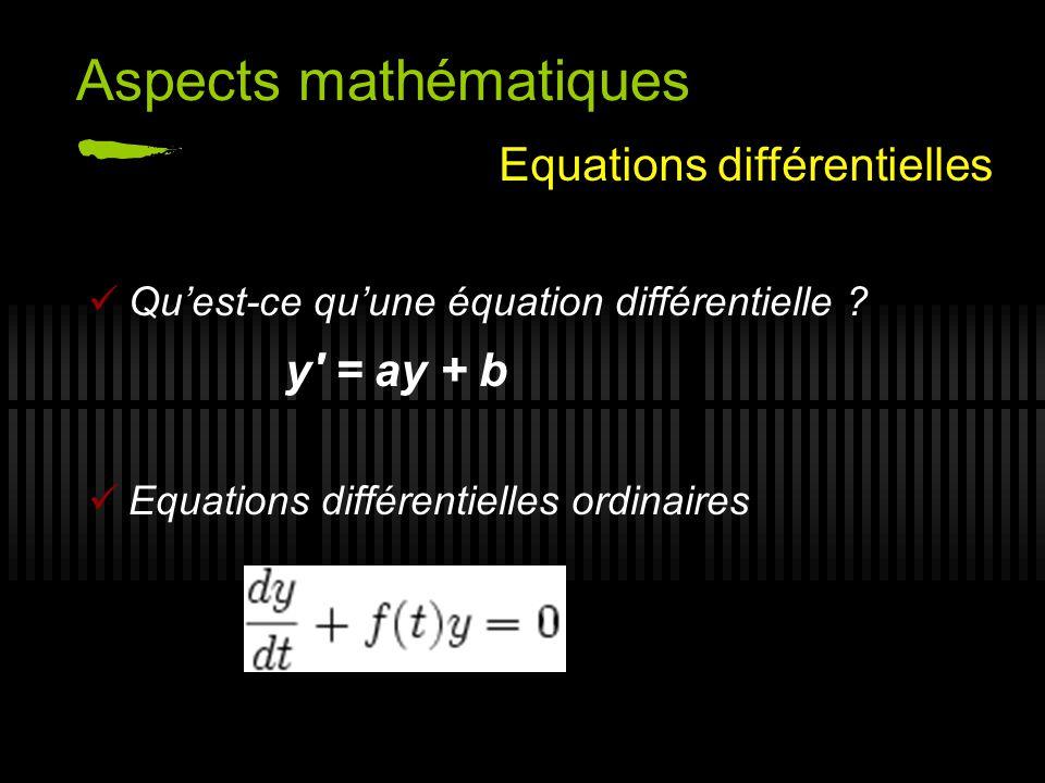 Aspects mathématiques