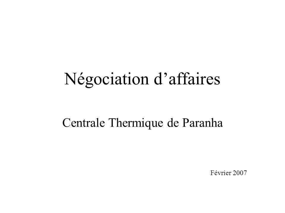 Négociation d'affaires