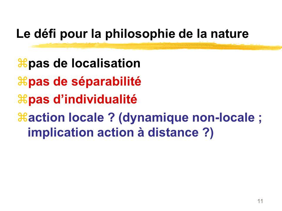 Le défi pour la philosophie de la nature
