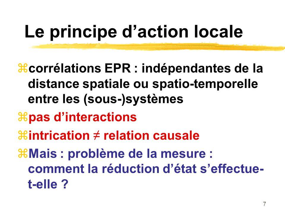 Le principe d'action locale