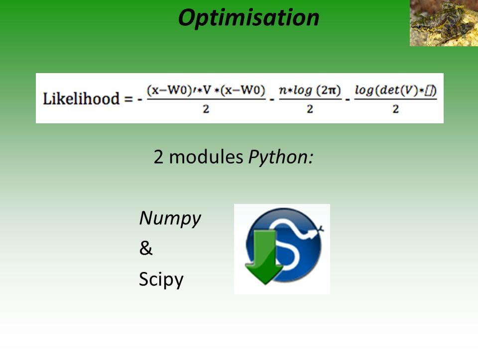 2 modules Python: Numpy & Scipy