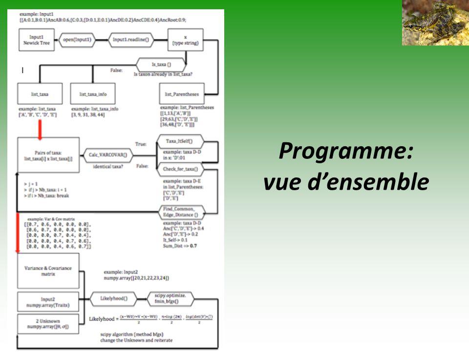 Programme: vue d'ensemble