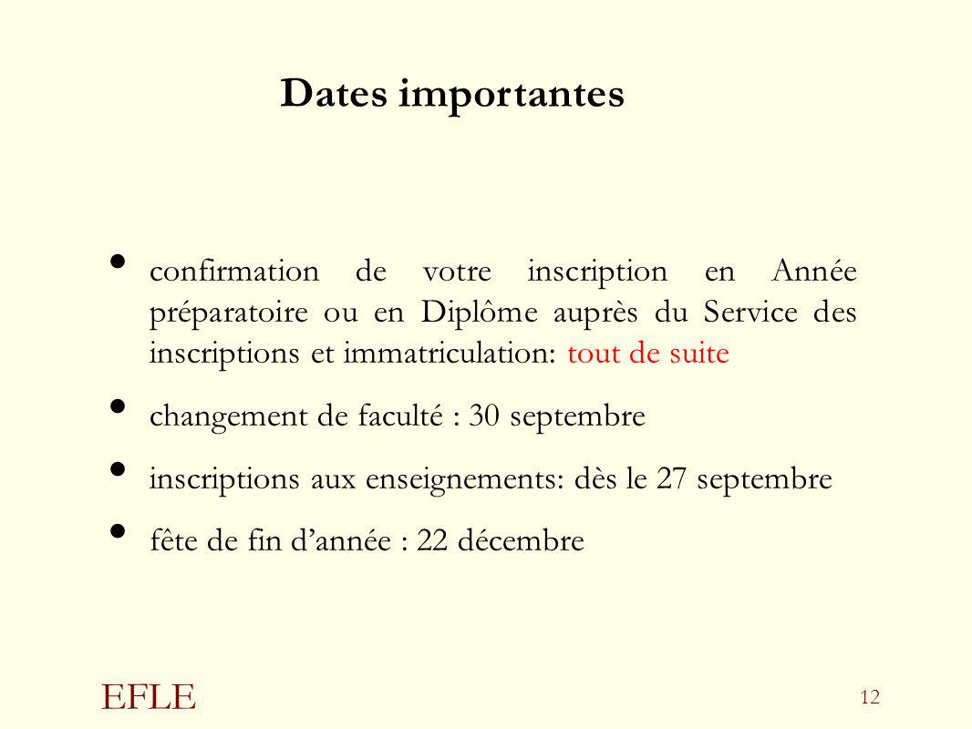 Dates importantes