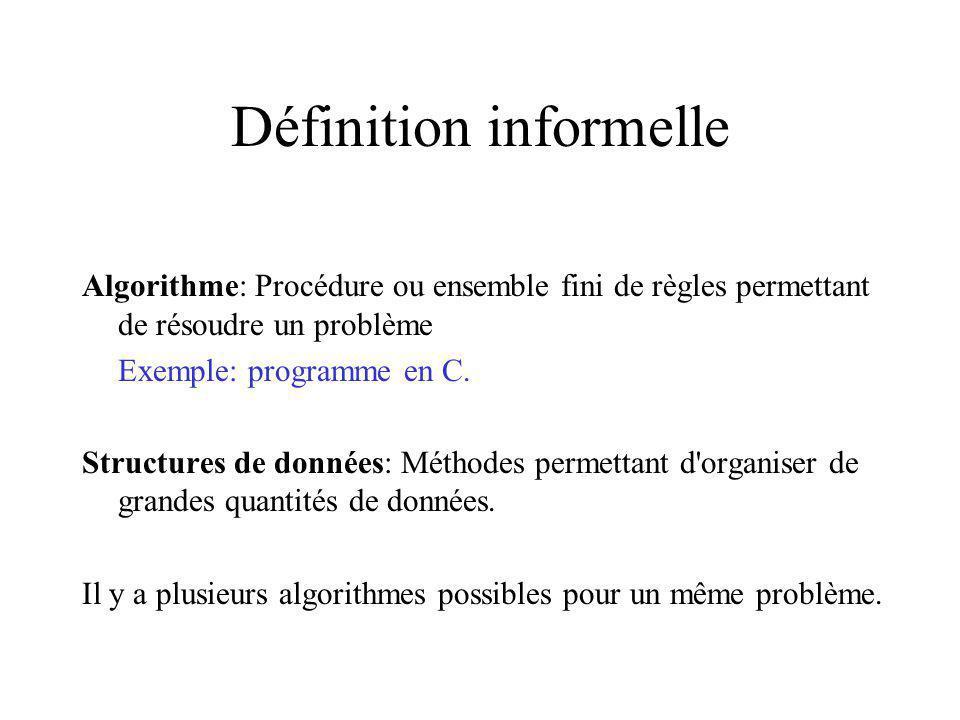 Définition informelle