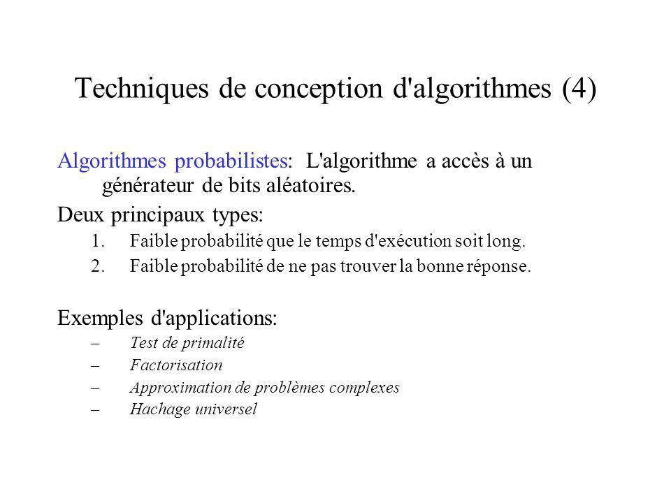 Techniques de conception d algorithmes (4)