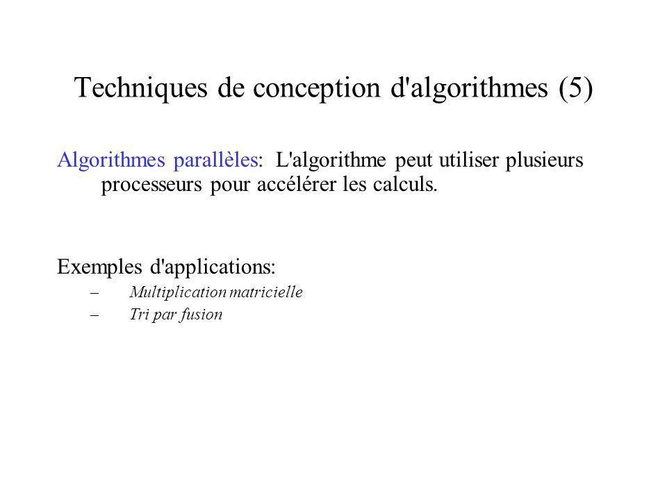 Techniques de conception d algorithmes (5)