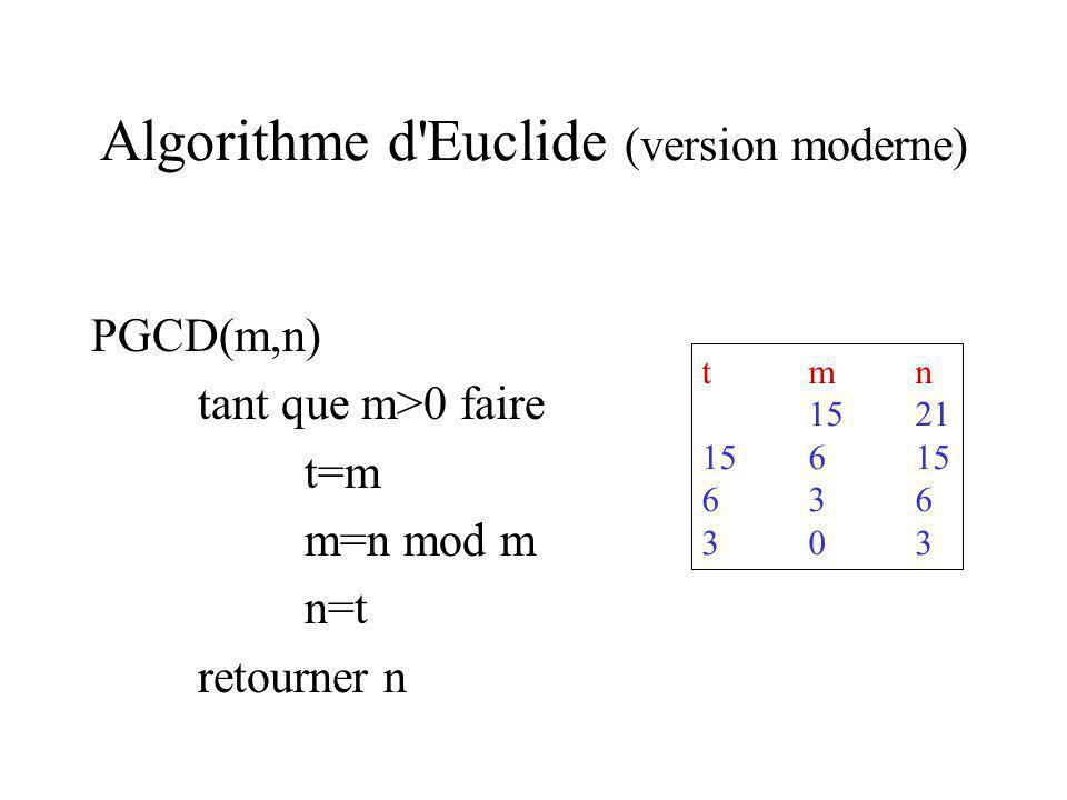 Algorithme d Euclide (version moderne)