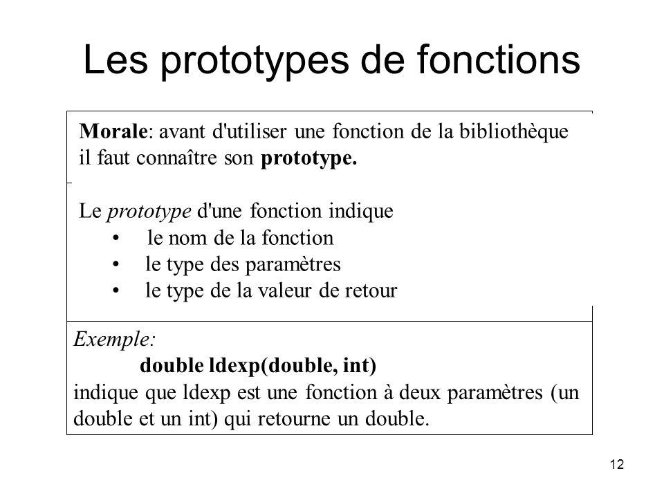 Les prototypes de fonctions