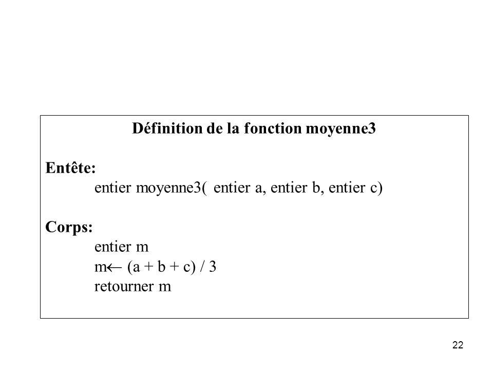 Définition de la fonction moyenne3