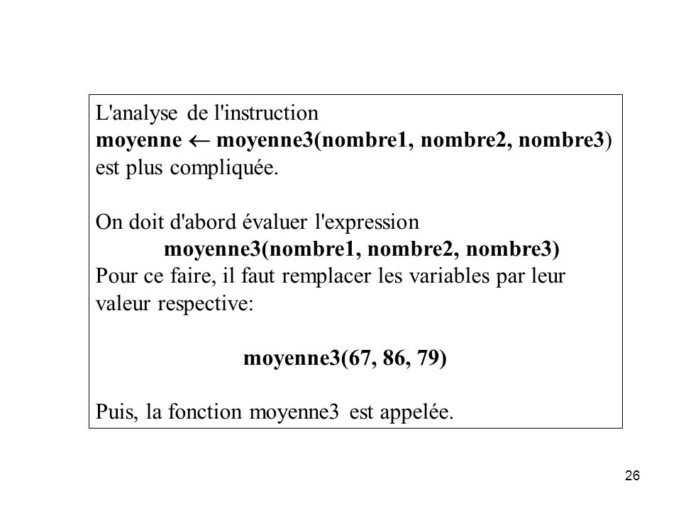 L analyse de l instruction