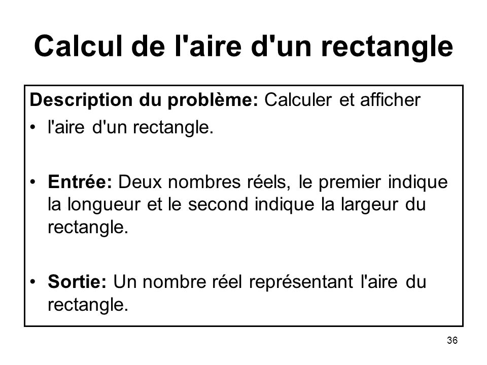 Calcul de l aire d un rectangle