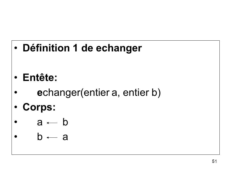 Définition 1 de echanger