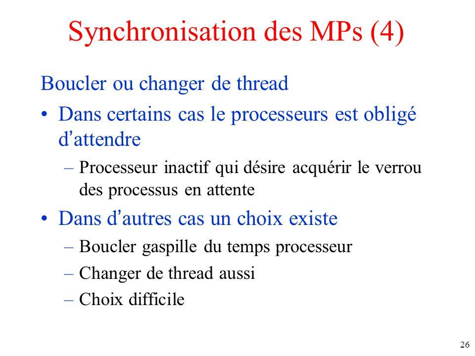 Synchronisation des MPs (4)
