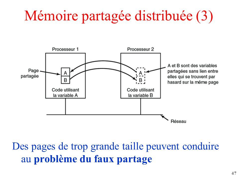 Mémoire partagée distribuée (3)