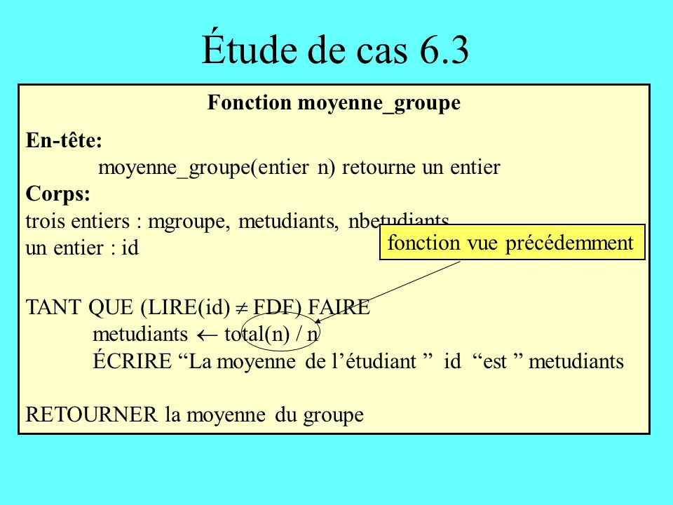 Fonction moyenne_groupe