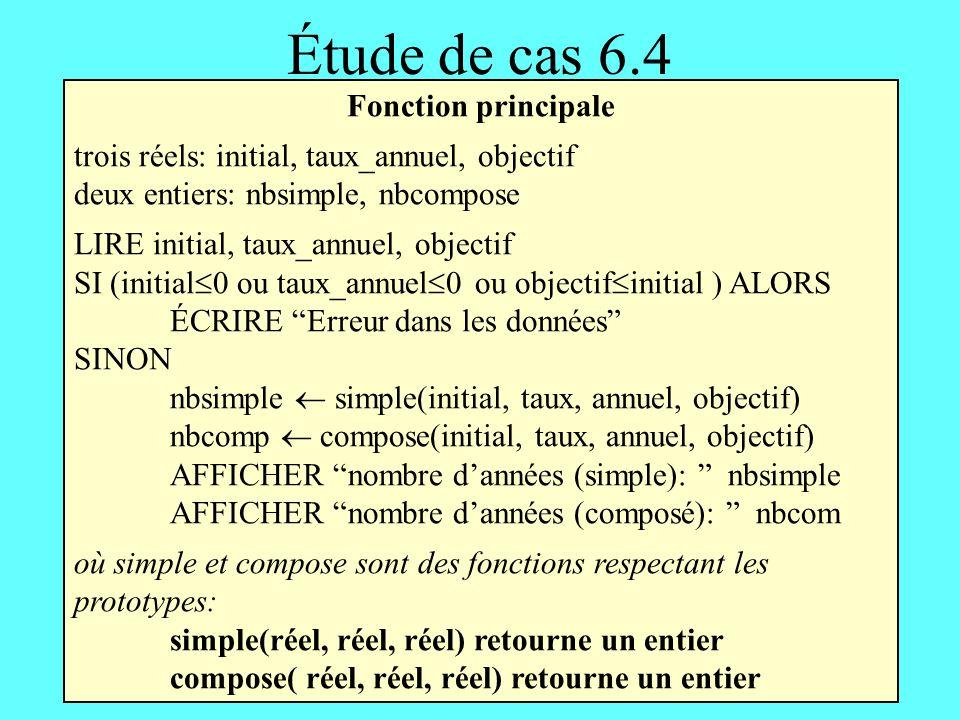 Étude de cas 6.4 Fonction principale