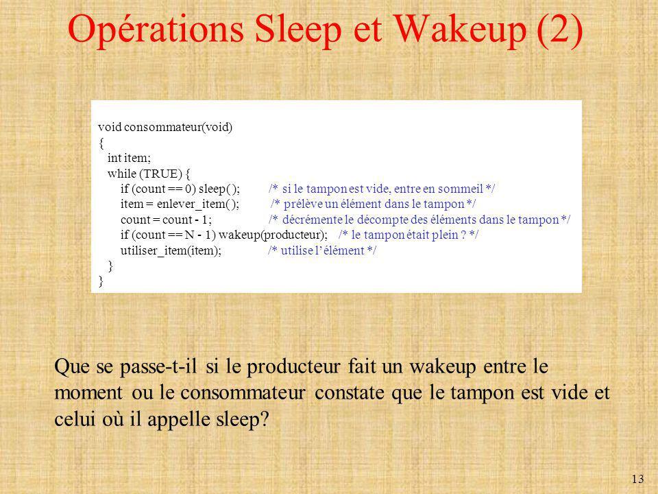 Opérations Sleep et Wakeup (2)