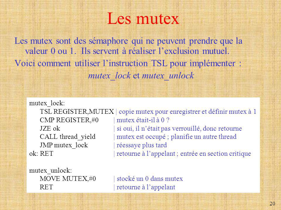 mutex_lock et mutex_unlock